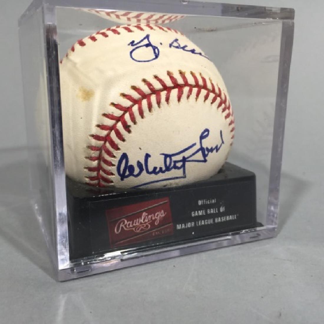 Double-Signed Baseball : Whitey Ford & Yogi Berra - 3