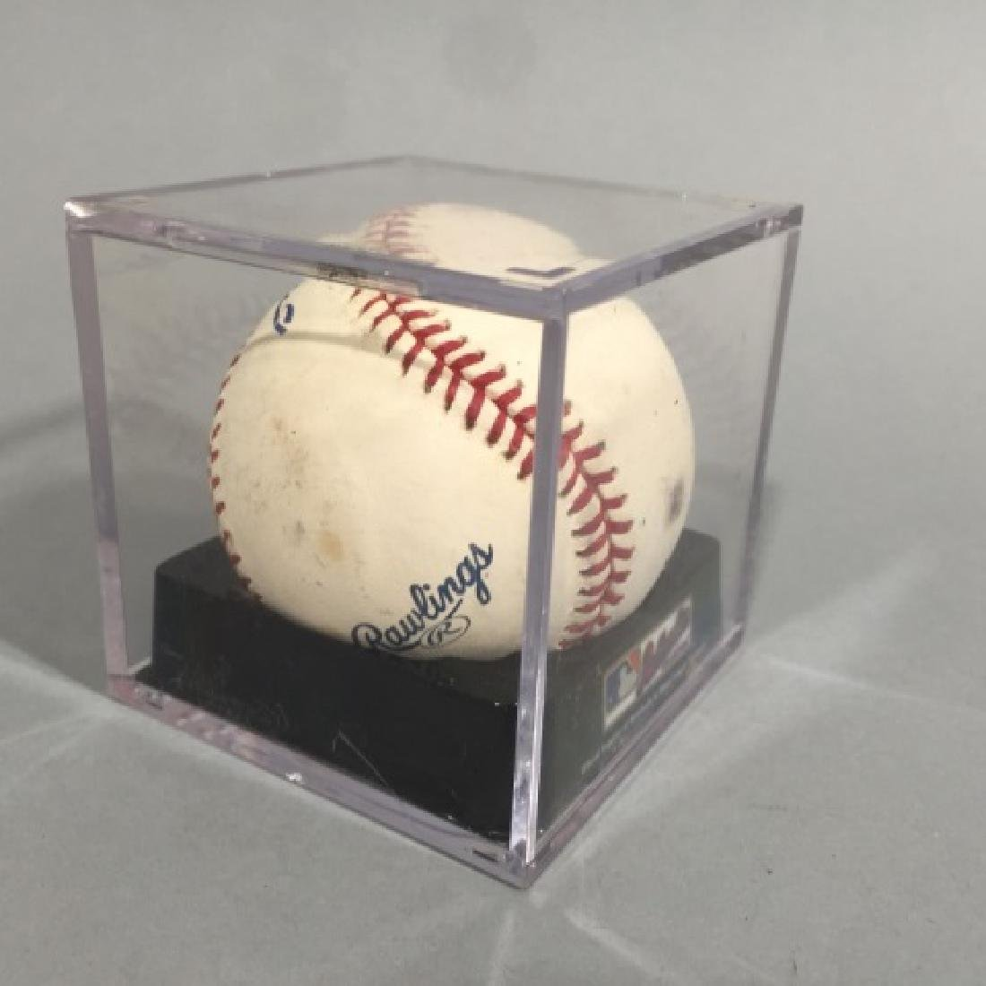 Double-Signed Baseball : Whitey Ford & Yogi Berra - 4