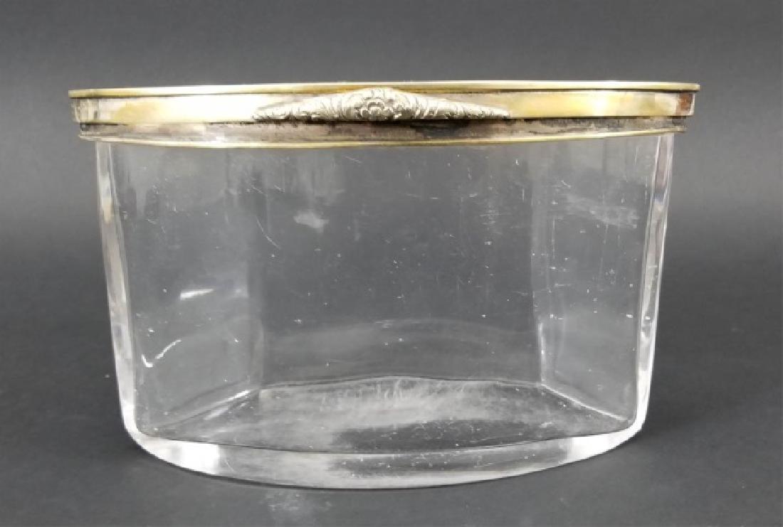 Antique Glass Gilt Metal Jewelry Casket  Table Box - 4