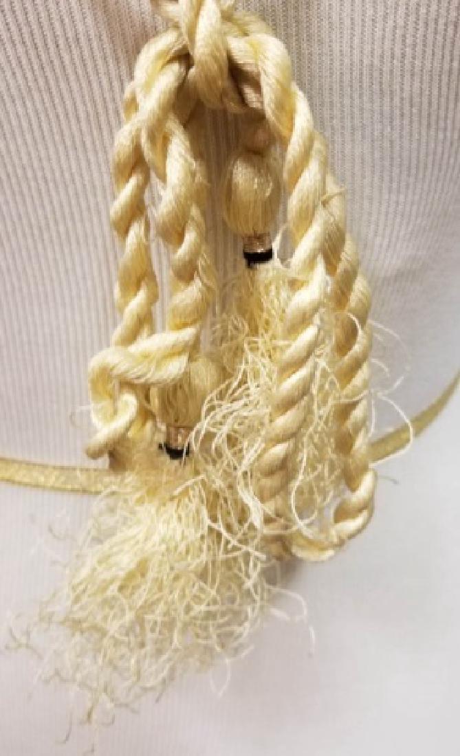 Estate Vintage Tibetan Necklace & Bone Necklace - 2