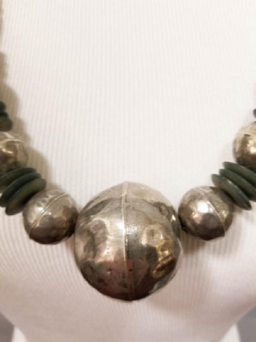 Estate Vintage Tibetan Necklace & Bone Necklace - 4