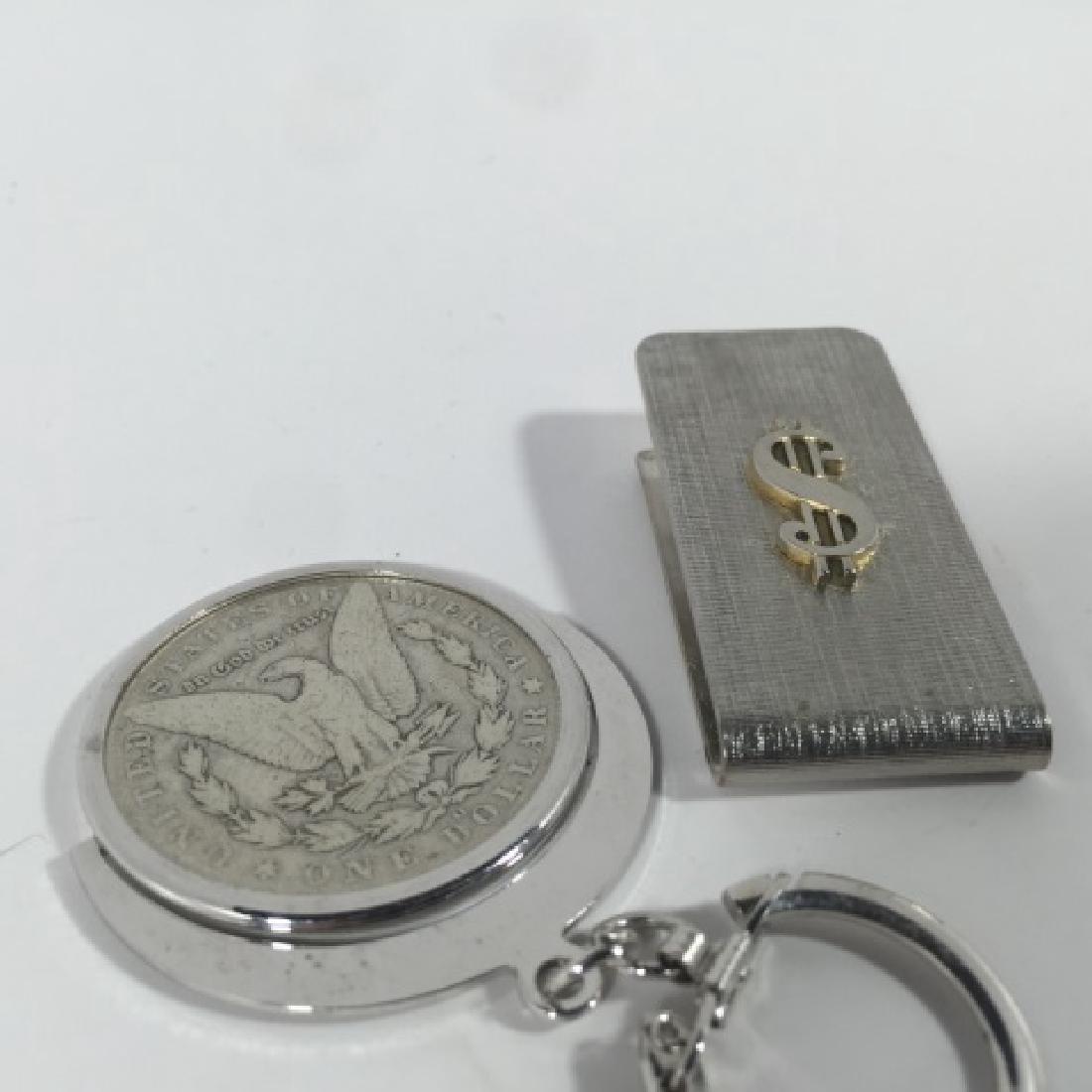 Antique 1886 US Dollar Key Chain & Money Clip - 2