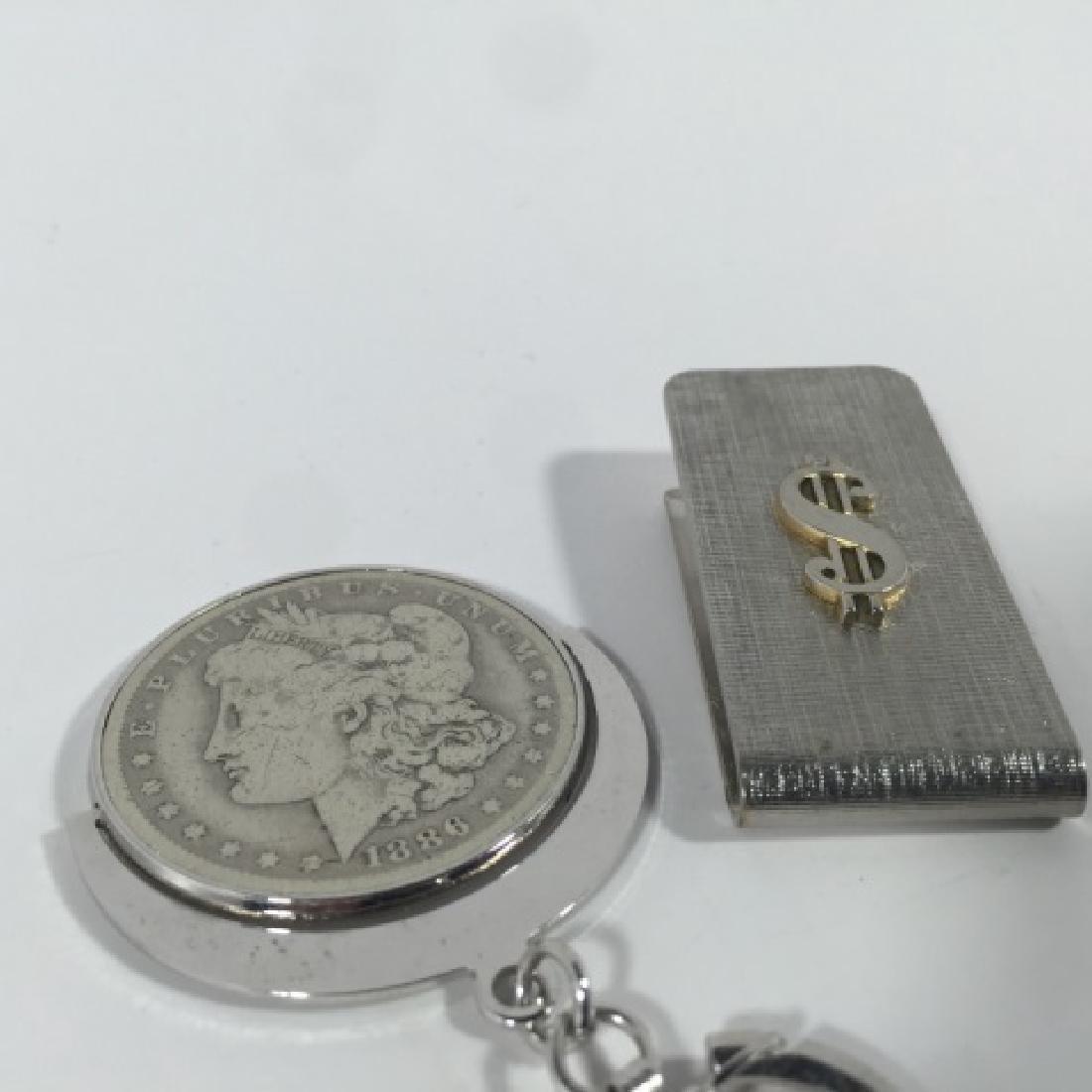 Antique 1886 US Dollar Key Chain & Money Clip - 3