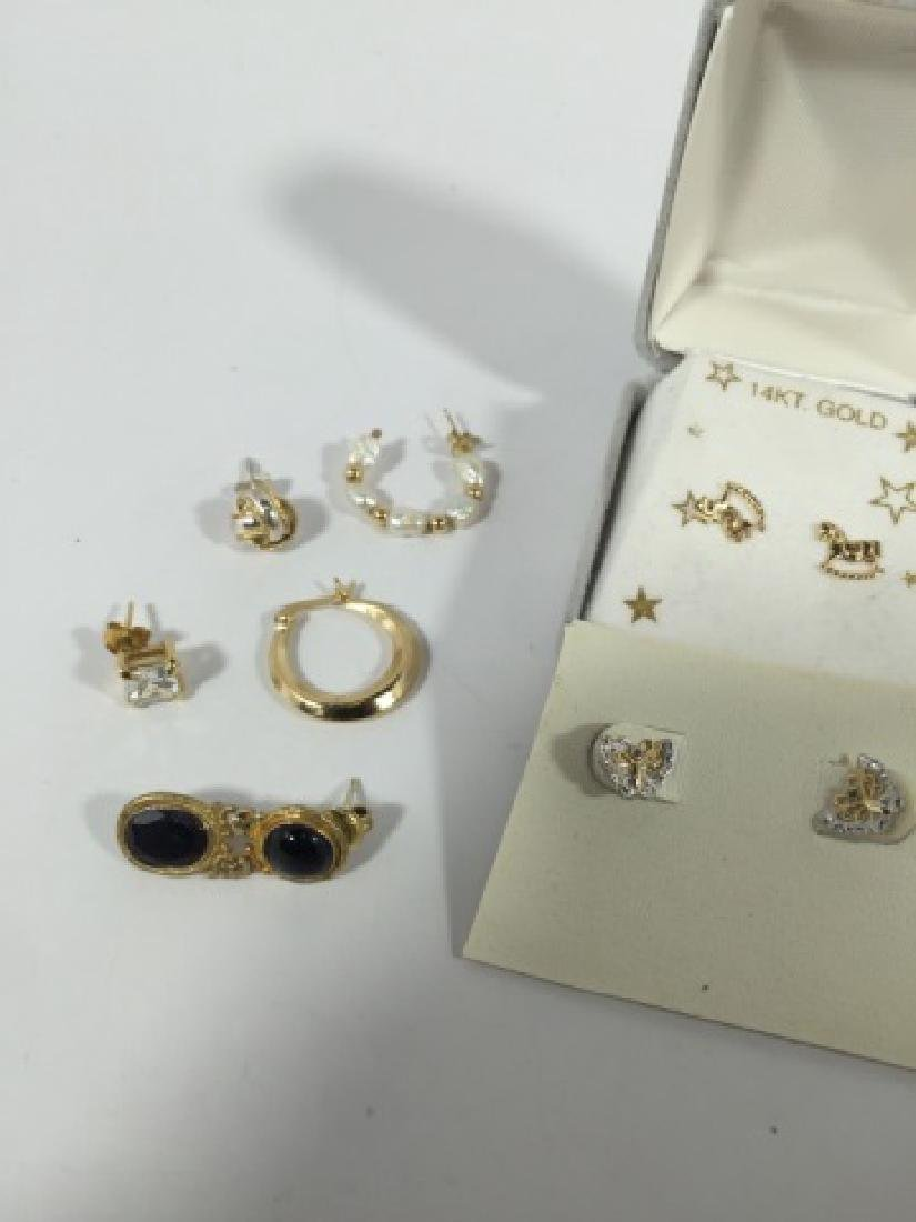 Assorted Vintage 14kt Gold & Gold Plated Earrings - 3
