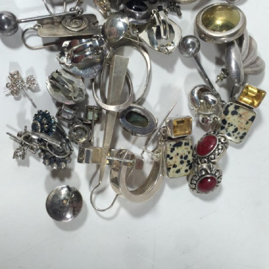 Collection of Vintage Sterling Silver Earrings - 2
