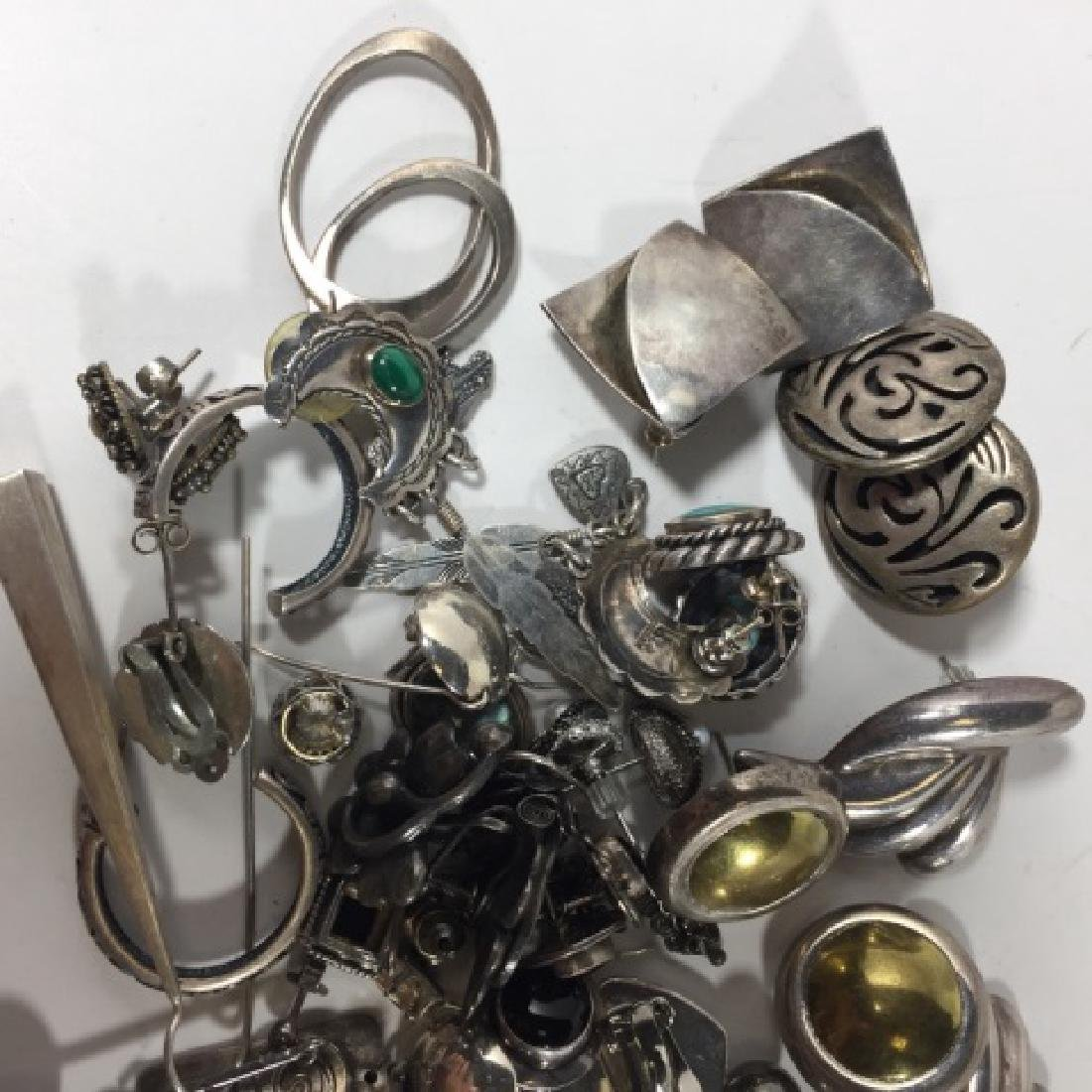 Collection of Vintage Sterling Silver Earrings - 3
