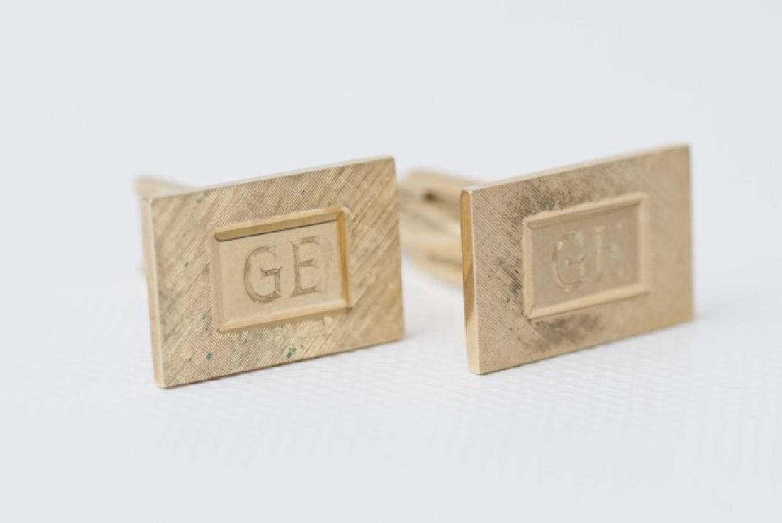 Pair Estate 14kt Yellow Gold Cartier Cufflinks