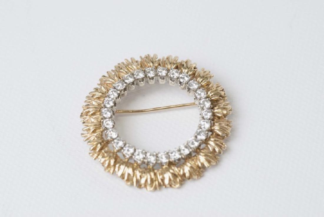 Estate 2.5 Carat Diamond & Gold Necklace Pendant