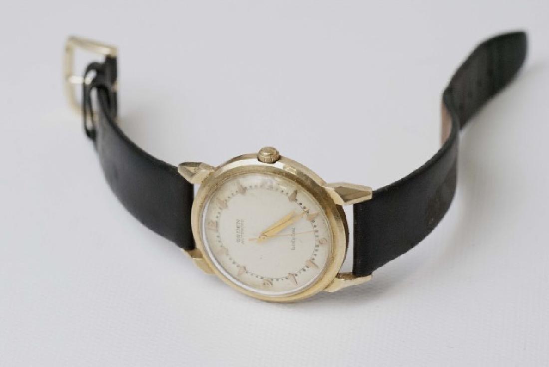 Estate Gruen Autowind 14kt Yellow Gold Watch