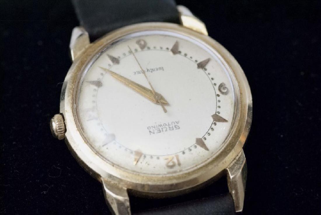 Estate Gruen Autowind 14kt Yellow Gold Watch - 2