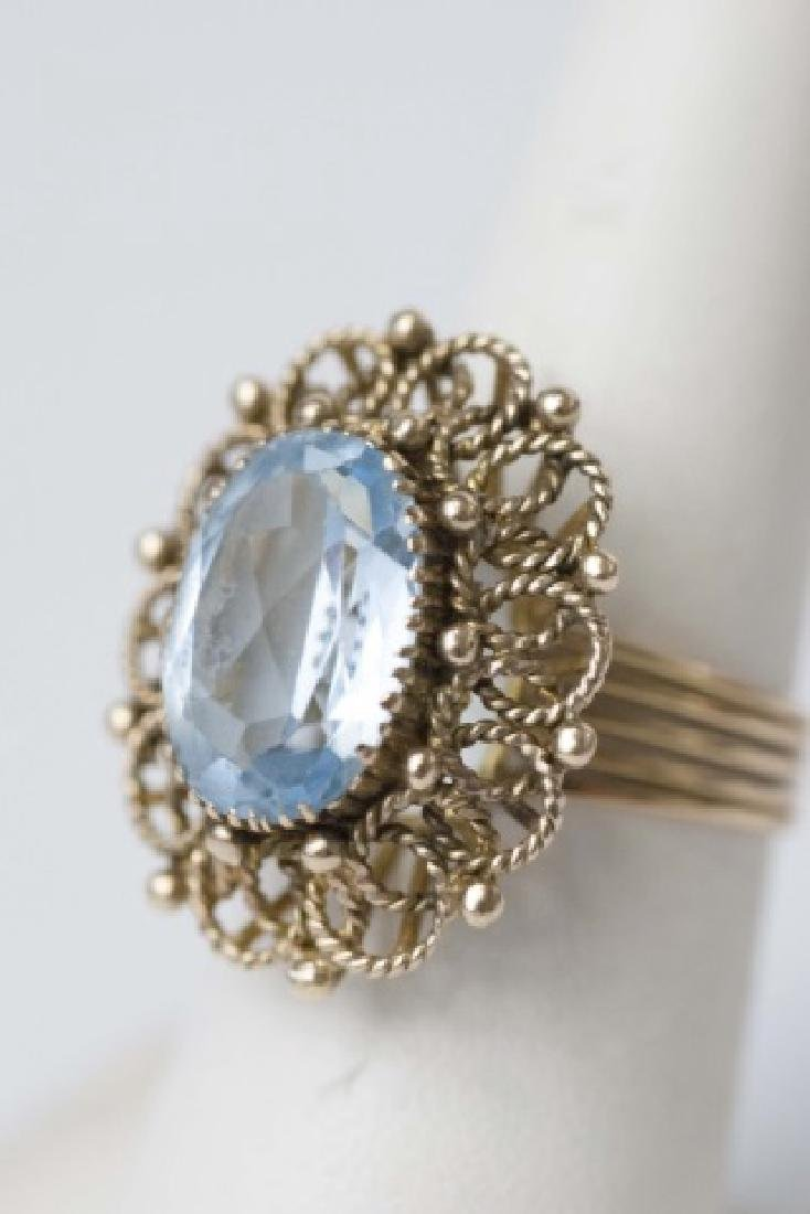 Retro Estate Yellow Gold Large Scale Cocktail Ring