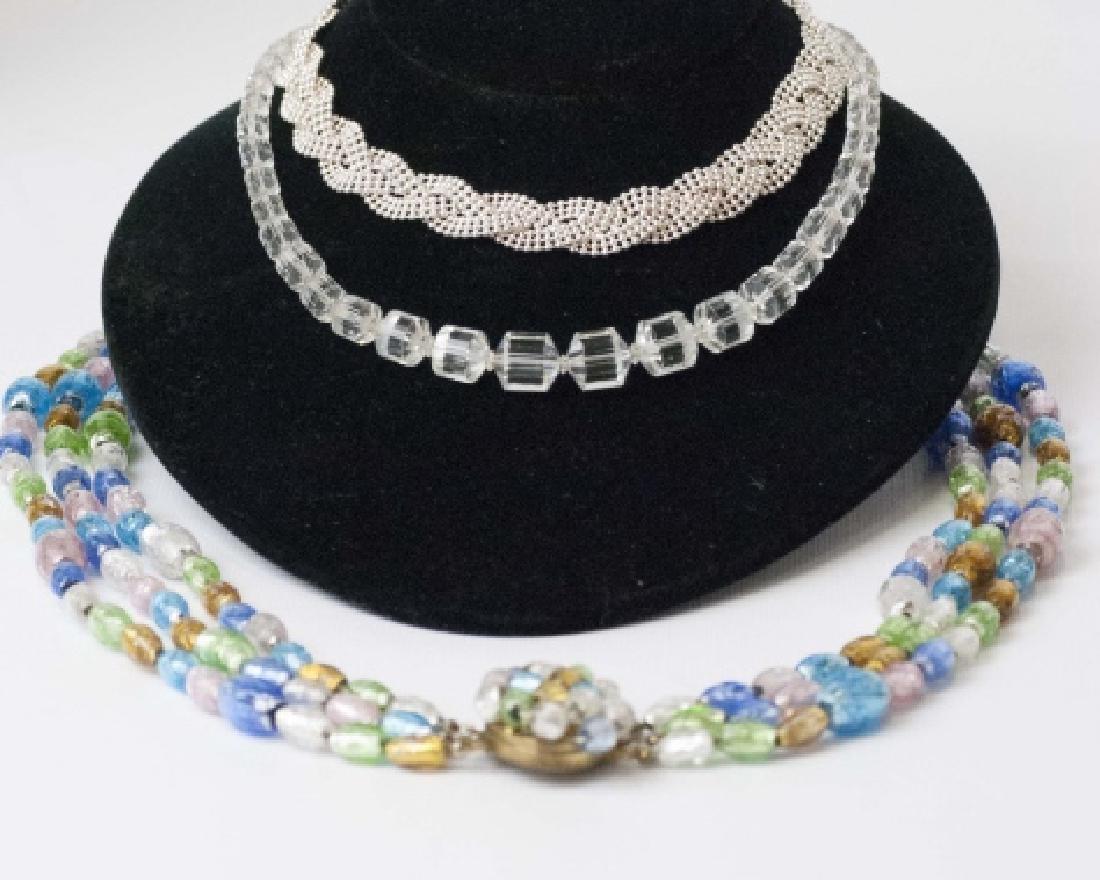 Vintage Necklaces - Art Glass, Crystal & Sterling