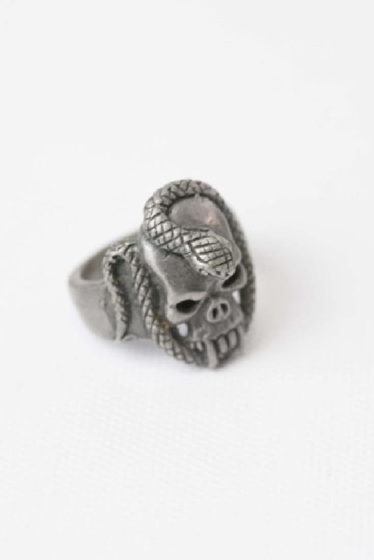 Three Men's Punk / Biker Style Statement Rings - 3