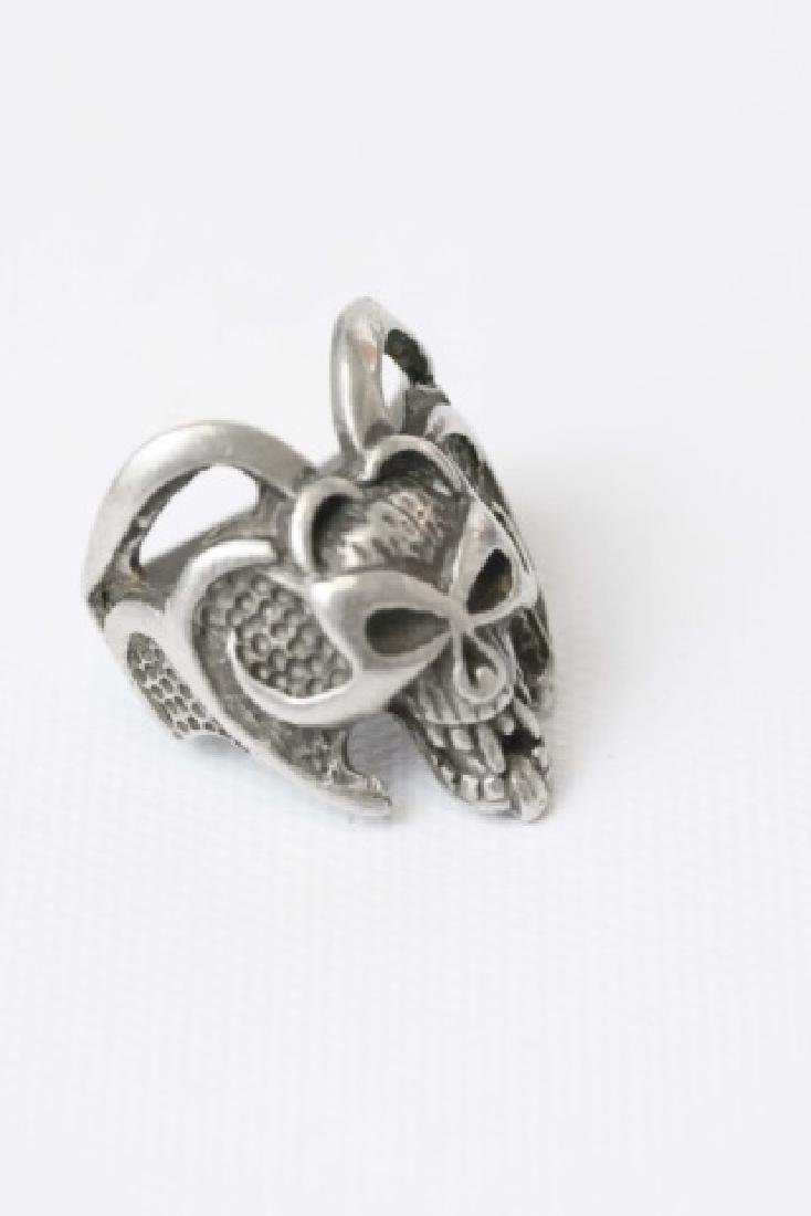 Three Men's Punk / Biker Style Statement Rings - 4