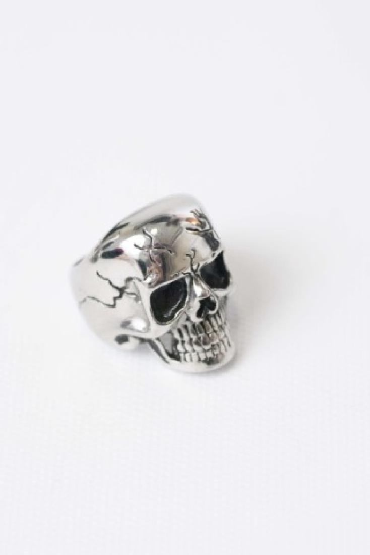 Three Men's Punk / Biker Style Statement Rings - 5