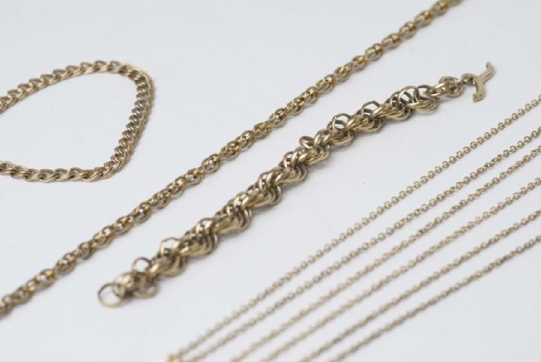 Antique / Estate Gold Filled Necklace Chains - 2