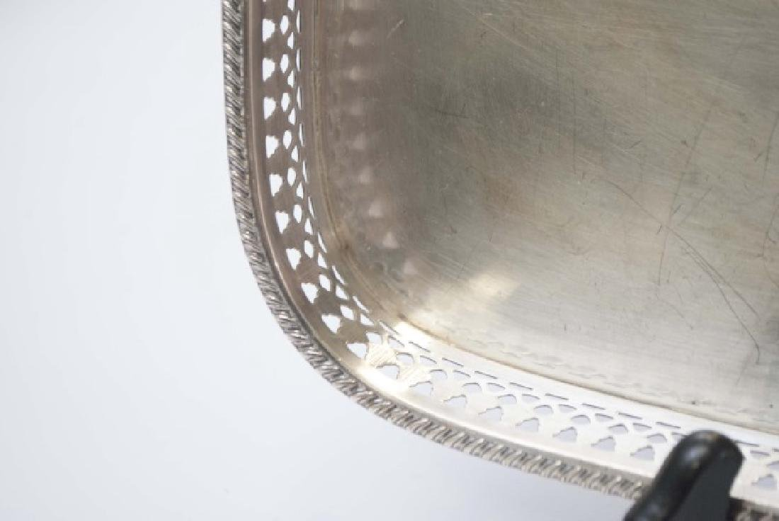 Three Silver Plate Serving Trays w Galleries - 11