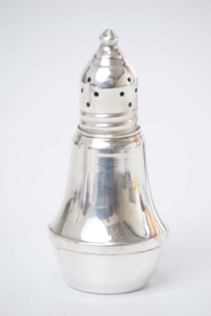 Pair Urn Form Sterling Silver Salt & Pepper Shaker - 2