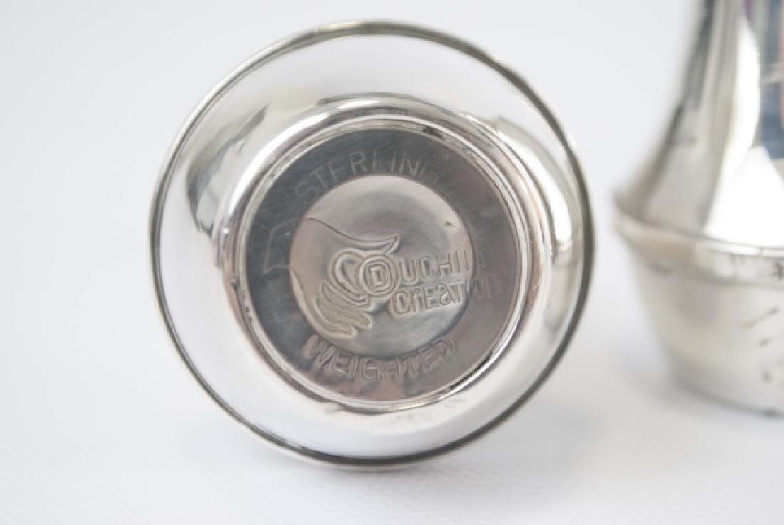 Pair Urn Form Sterling Silver Salt & Pepper Shaker - 3