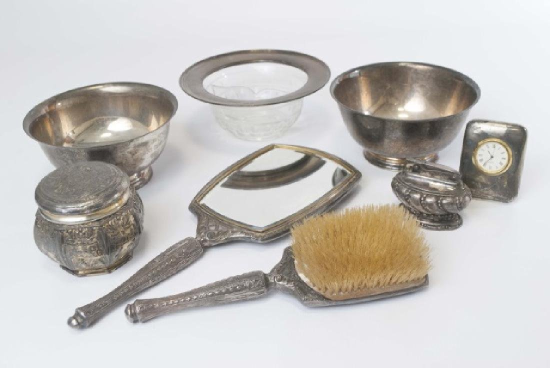 Group Sterling & Silver Plate Items Bowls Vanity