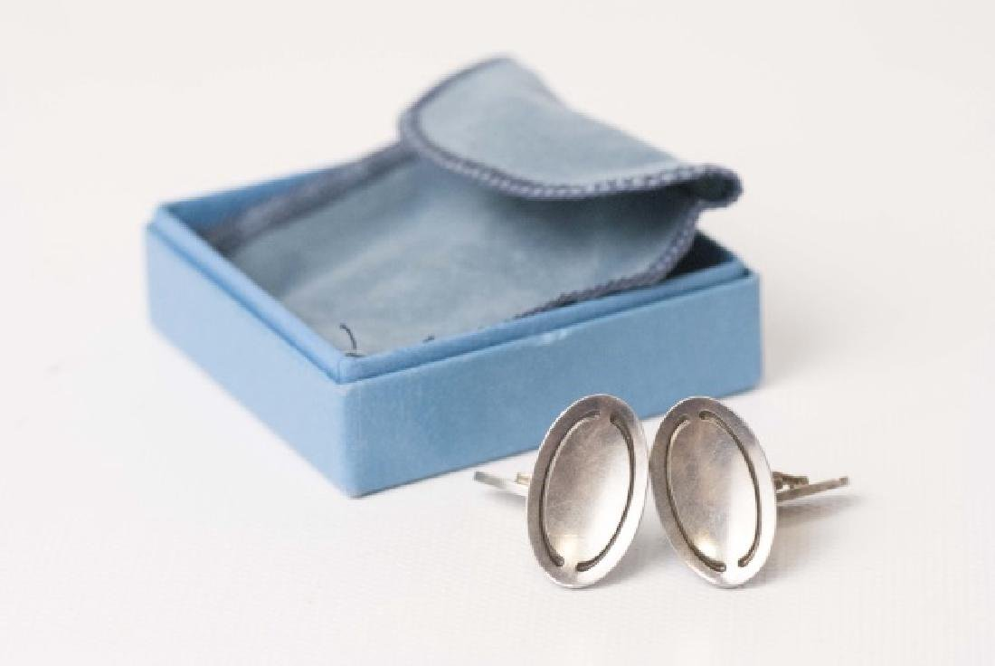 George Jensen Denmark Sterling Oval Cufflinks