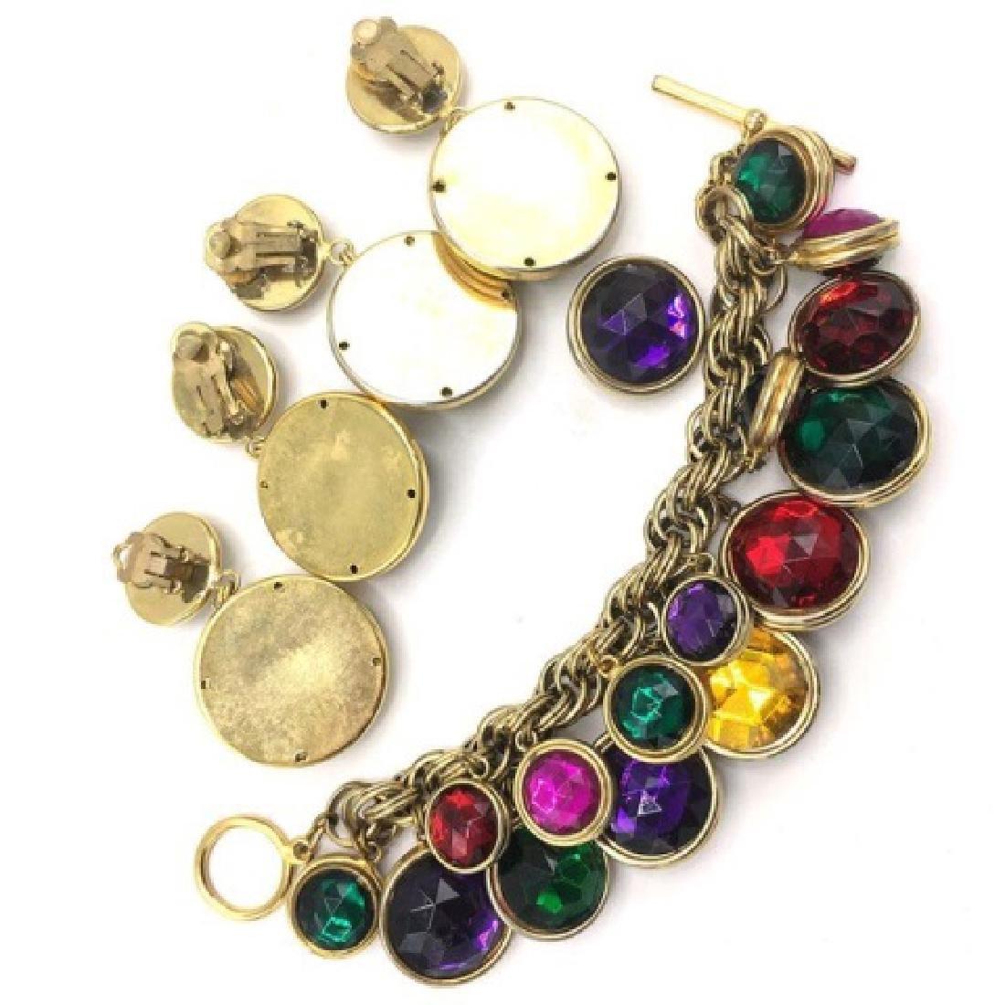 Vintage 1980s Costume Gold Tone Costume Jewelry - 2