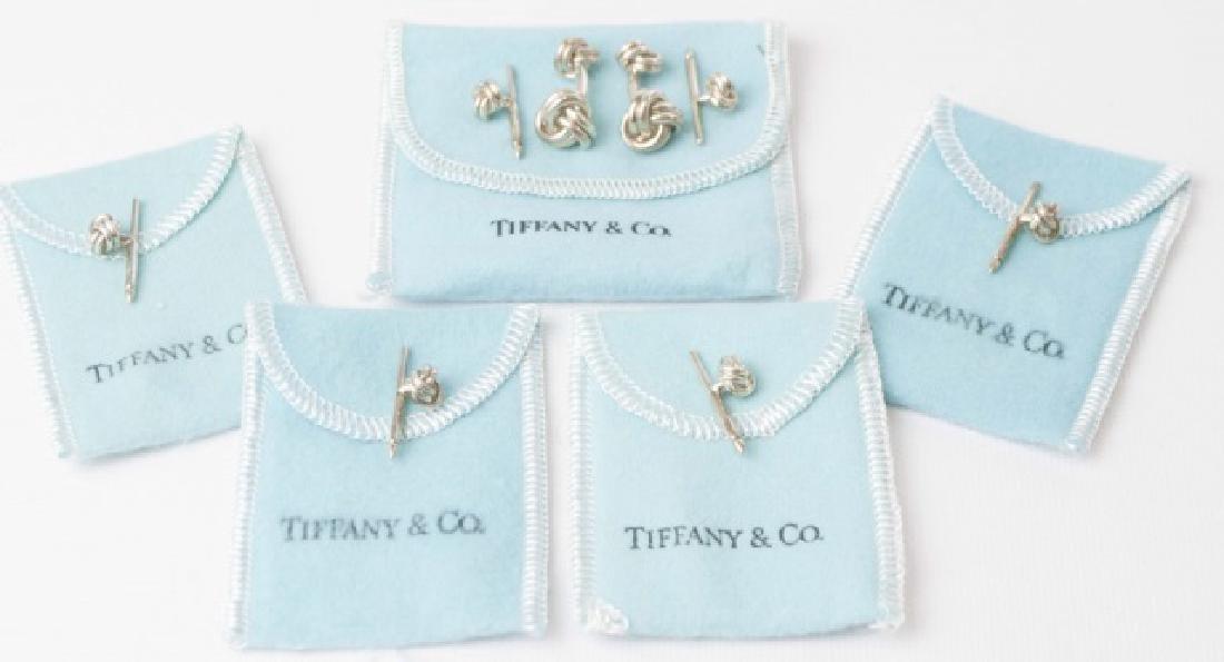 Tiffany & Co Cufflinks & Button Set w Original Box