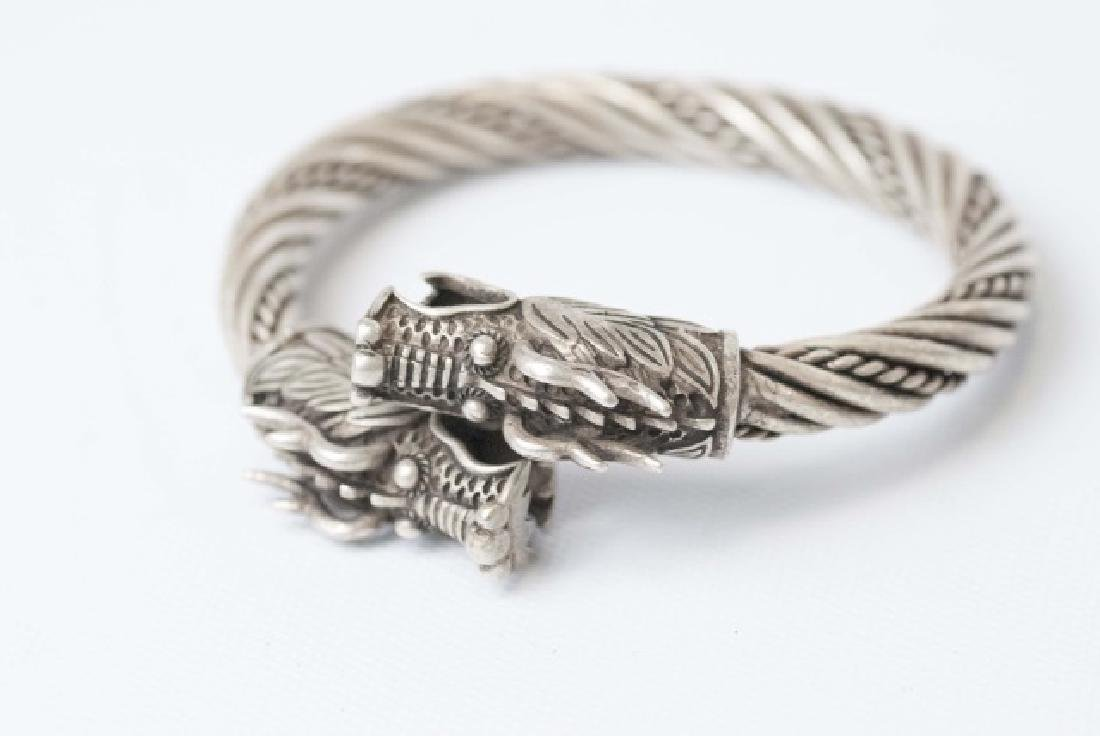 Chinese Double Headed Dragon Bangle Bracelet