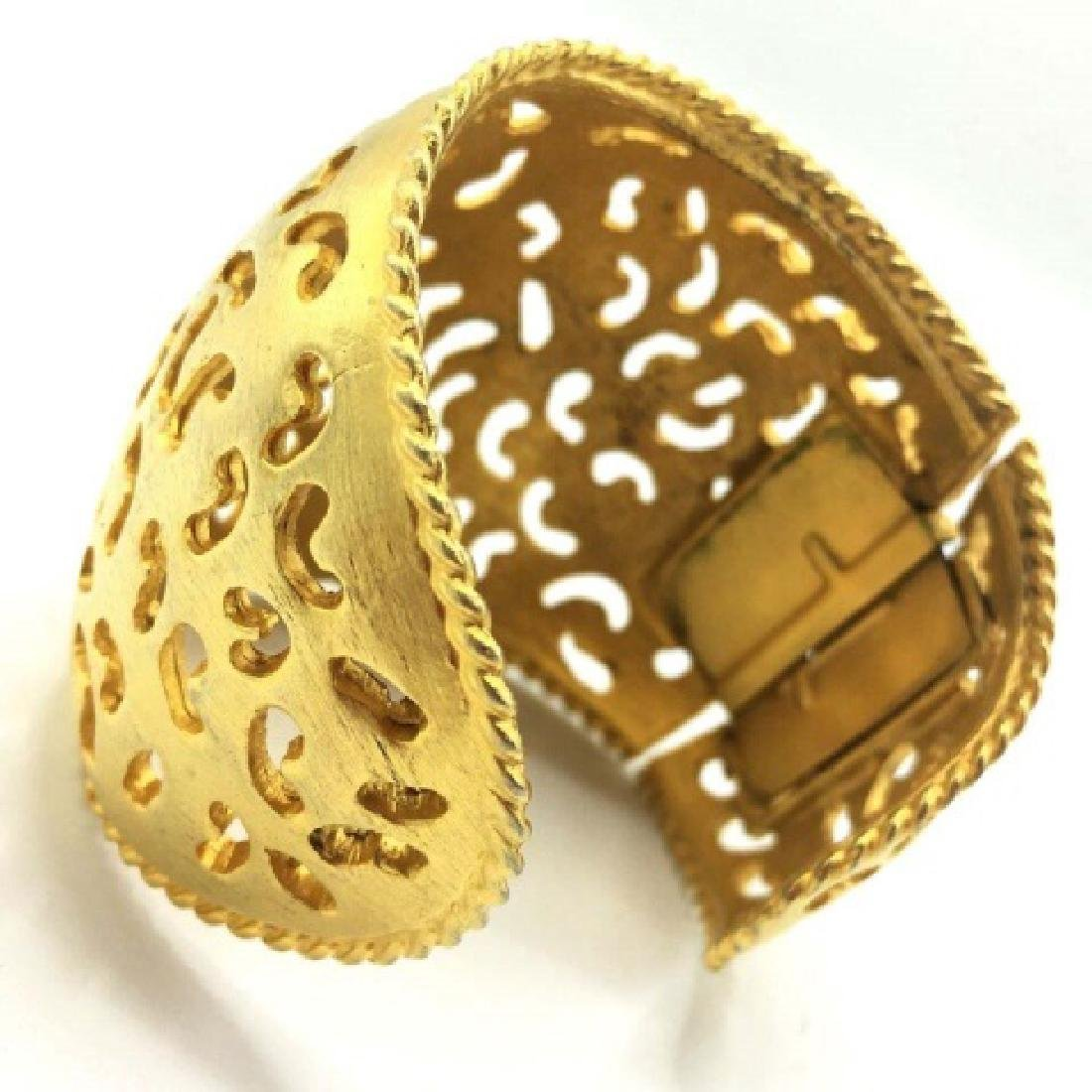 Vintage Costume Gold-Tone Cut-Out Cuff - 2