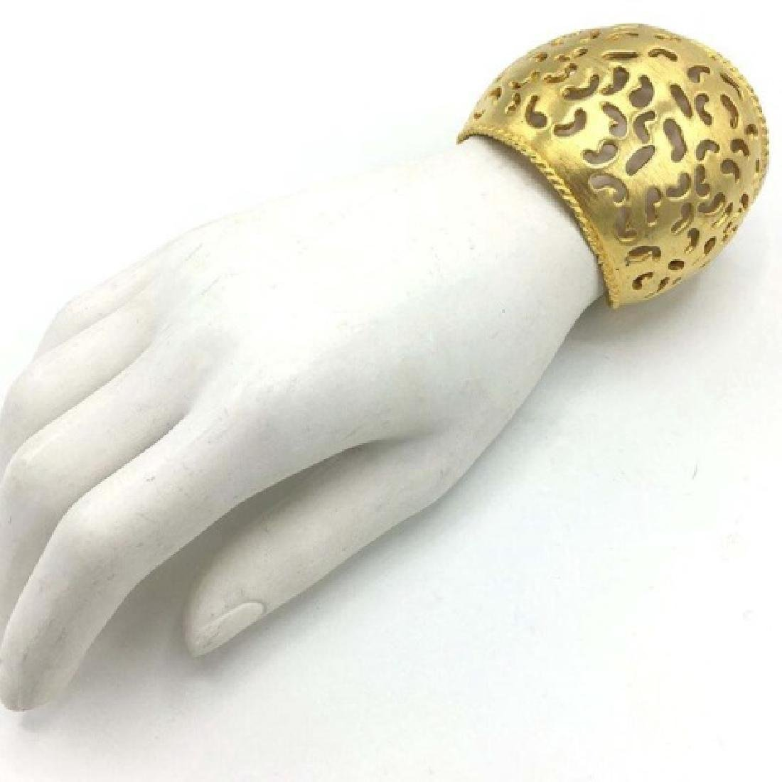 Vintage Costume Gold-Tone Cut-Out Cuff - 3