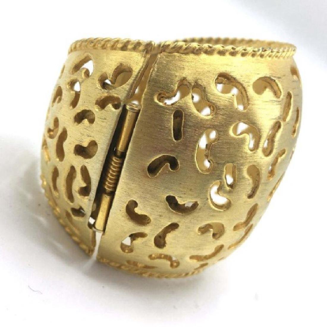 Vintage Costume Gold-Tone Cut-Out Cuff - 4