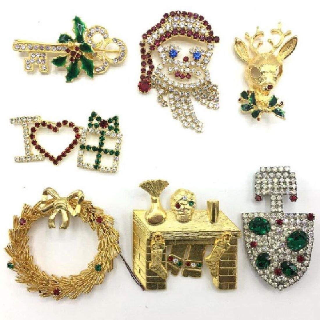 Group Lot - Vintage Set of 7 Holiday Pins