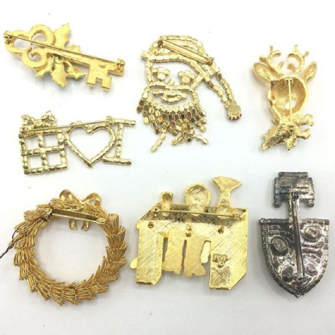 Group Lot - Vintage Set of 7 Holiday Pins - 2