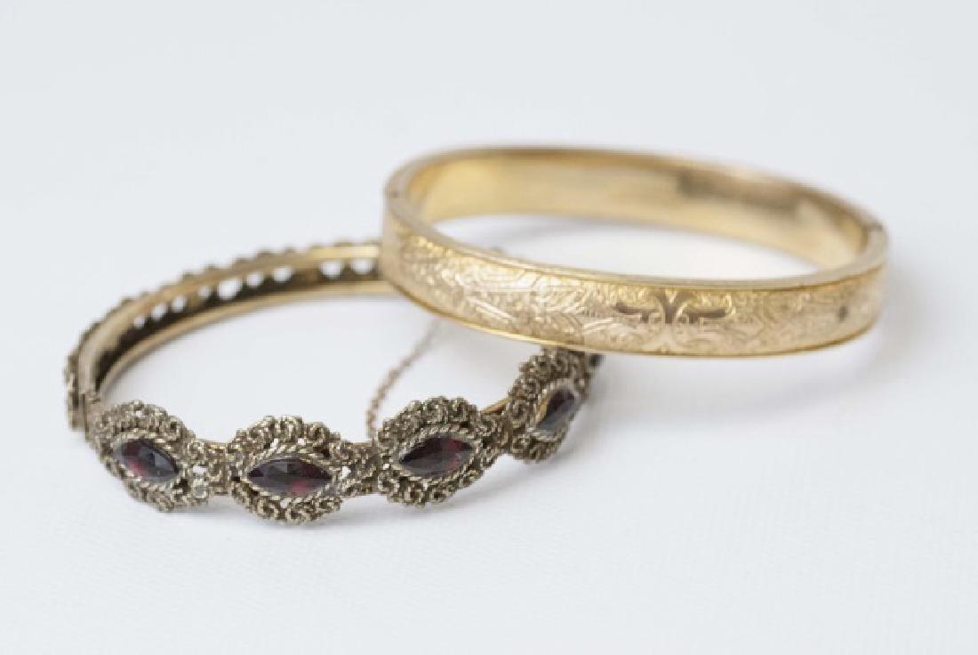 Antique Victorian Gold Bangle & Vintage Bangle