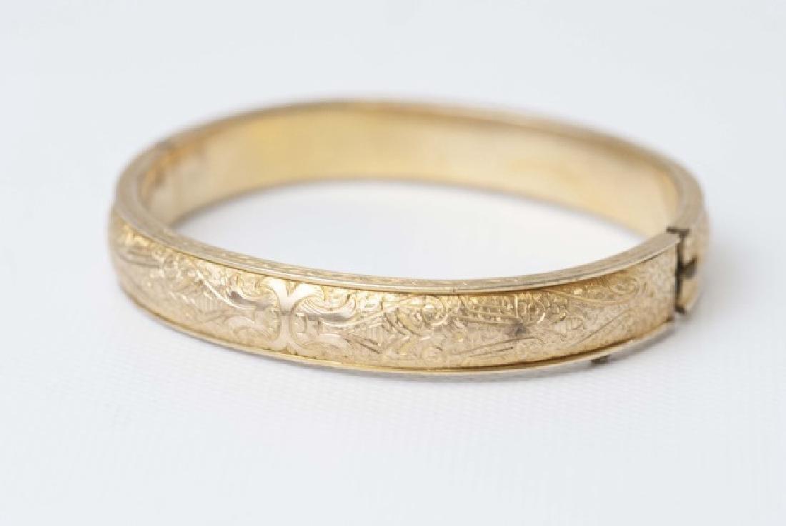 Antique Victorian Gold Bangle & Vintage Bangle - 2