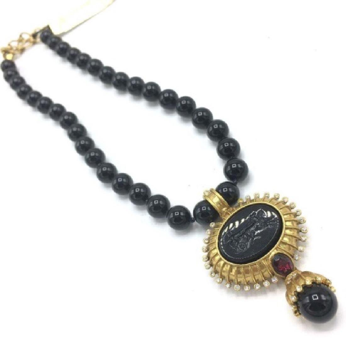 Victorian Style Costume Mourning Style Necklace - 2