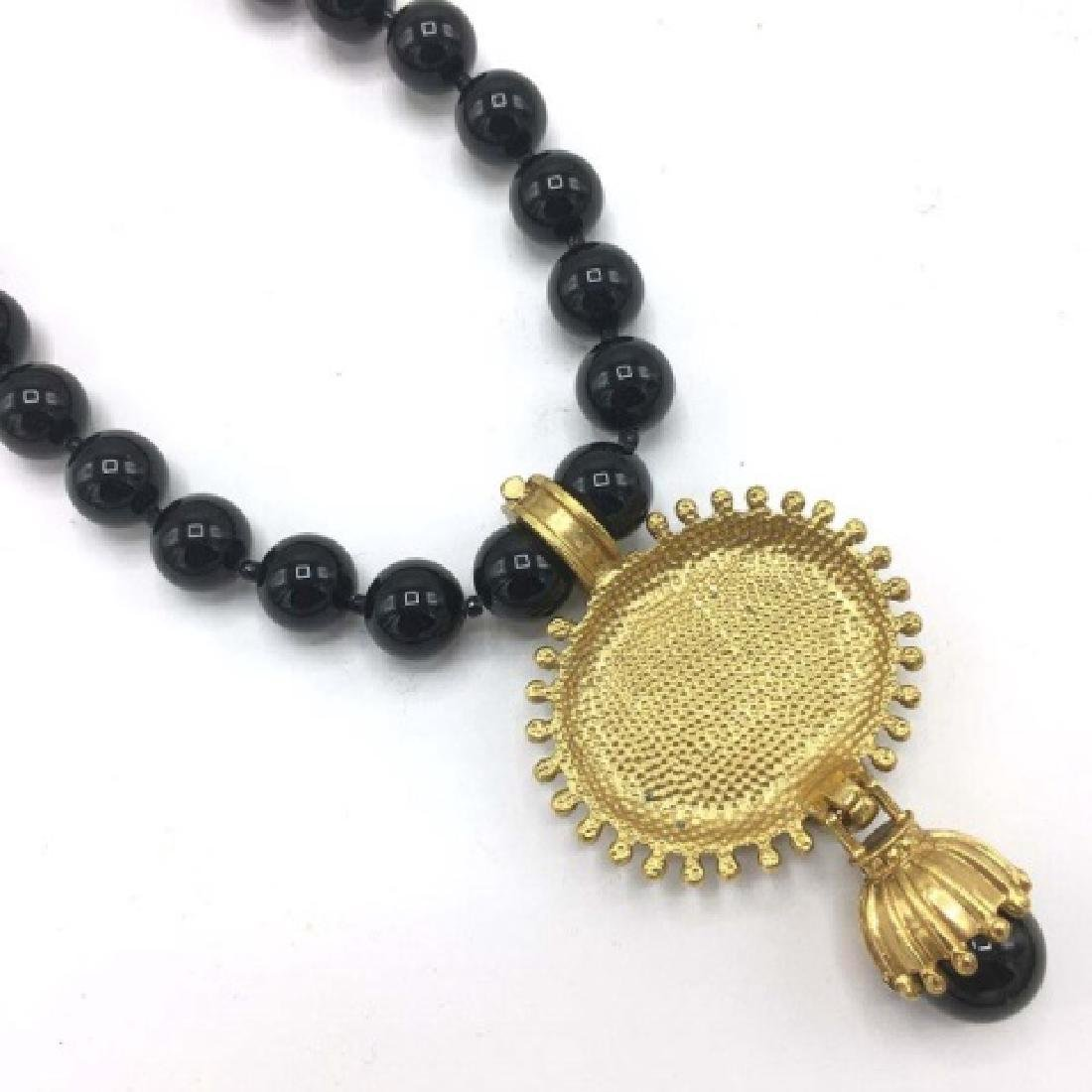 Victorian Style Costume Mourning Style Necklace - 3