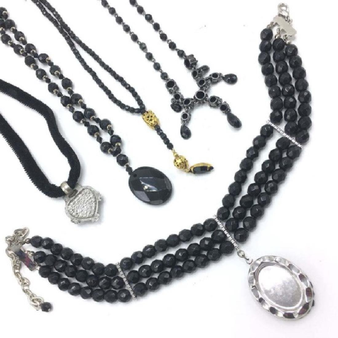 Vintage Victorian Style / Mourning Style Necklaces - 2