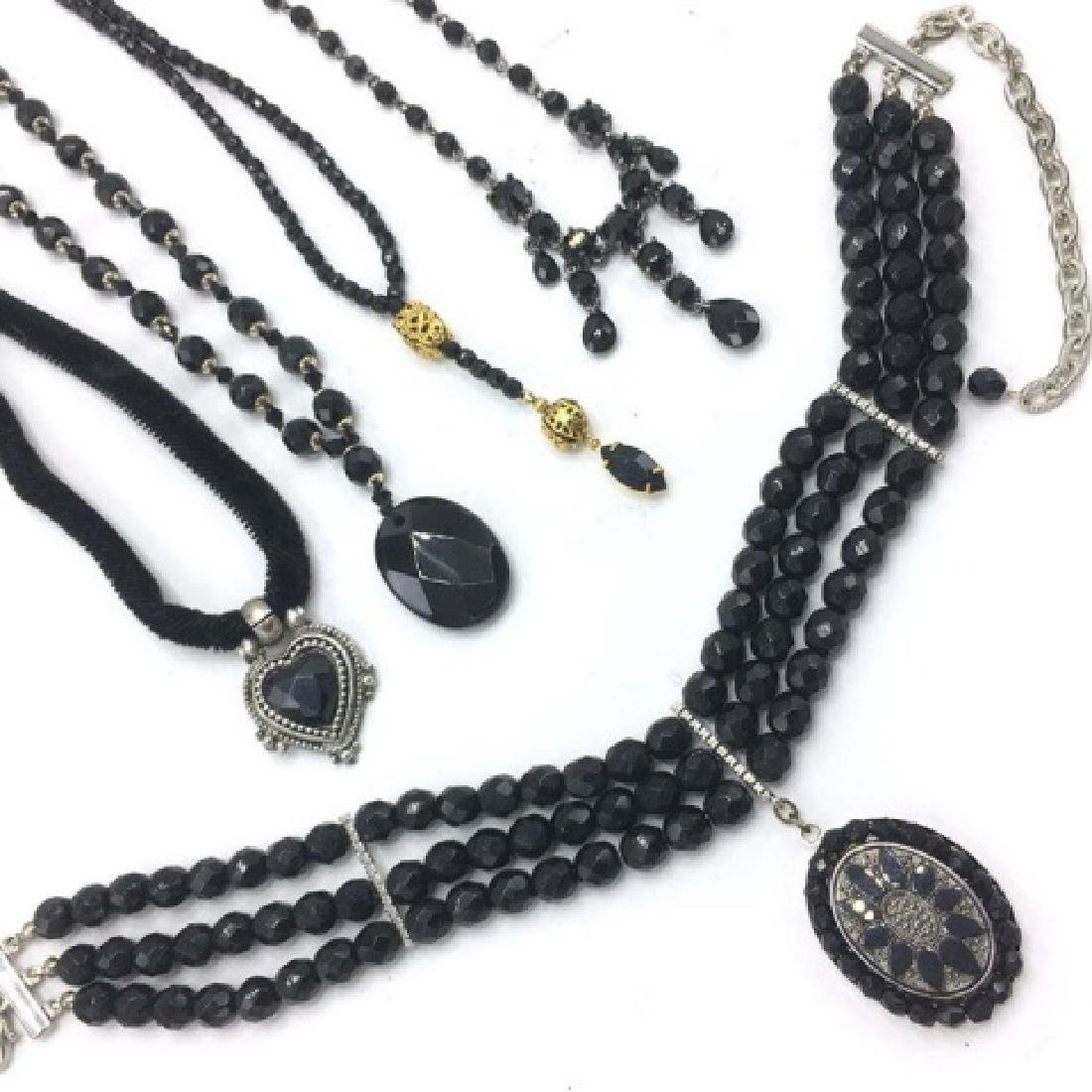 Vintage Victorian Style / Mourning Style Necklaces - 3