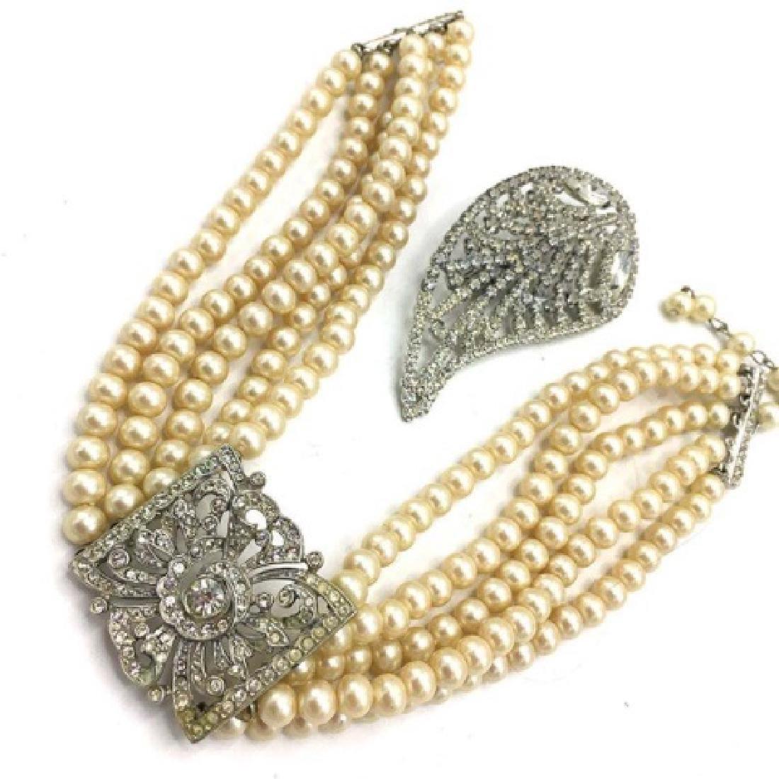 Kenneth J Lane Chocker w/ Rhinestones Jewelry