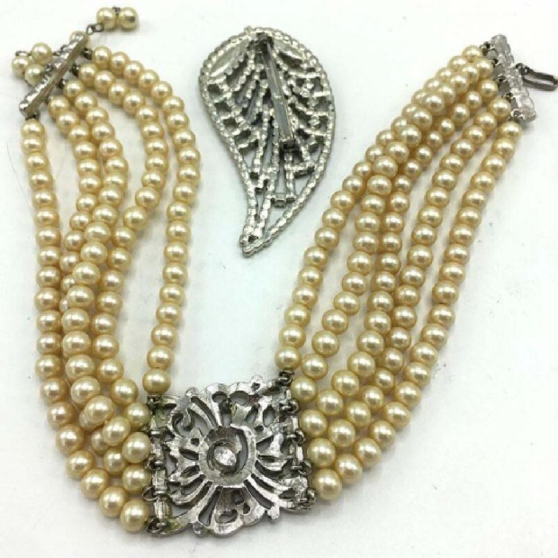 Kenneth J Lane Chocker w/ Rhinestones Jewelry - 3
