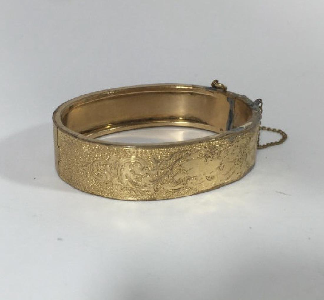 Antique 19th C Victorian Gold Plated Bracelet