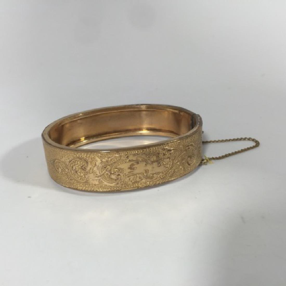 Antique 19th C Victorian Gold Plated Bracelet - 3