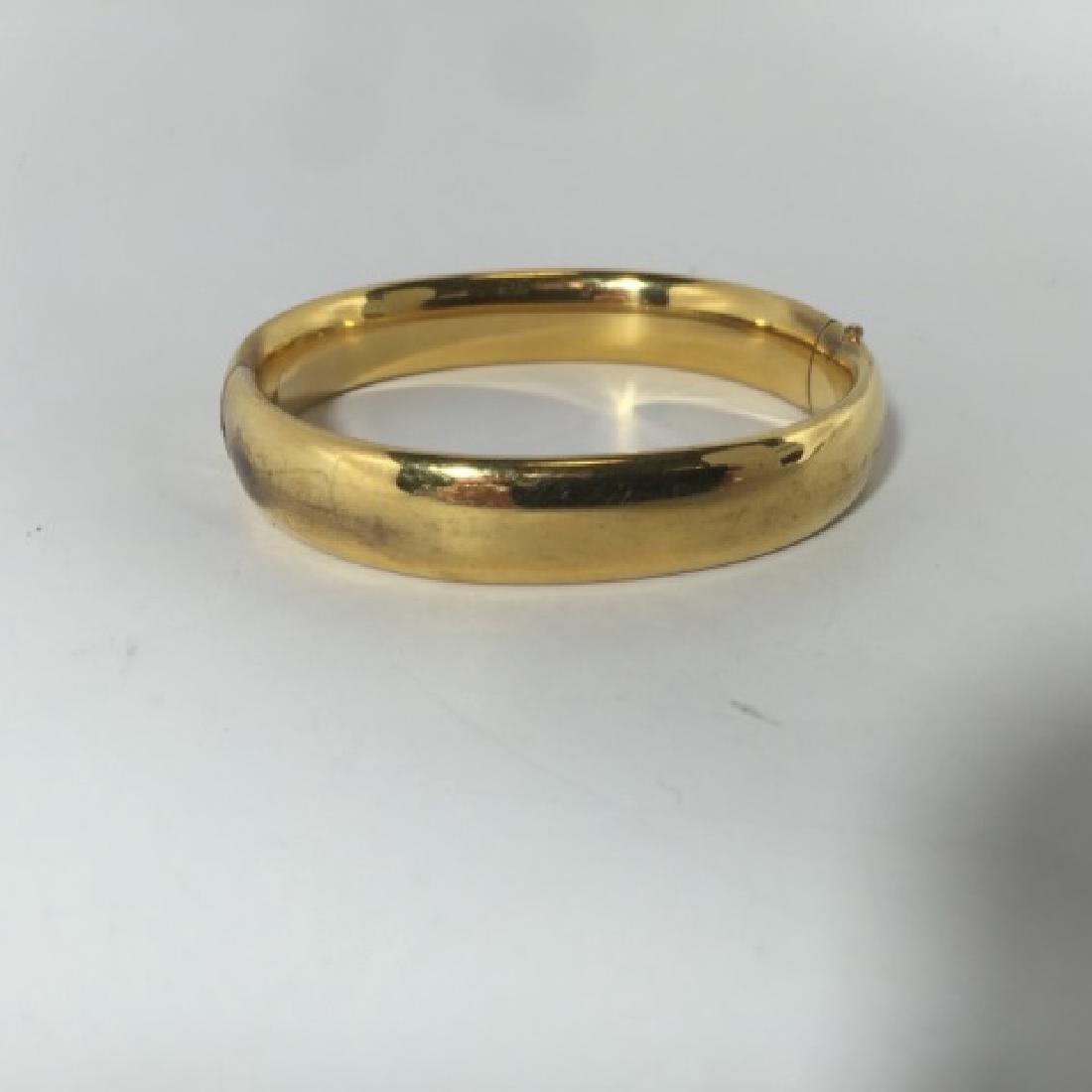 Vintage Chased Floral Design Gold Bracelet - 6
