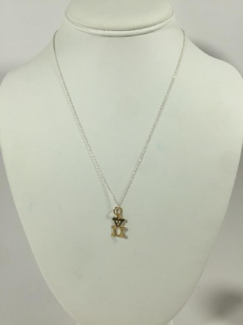 14kt Yellow Gold Bear Necklace Pendant on Chain - 3