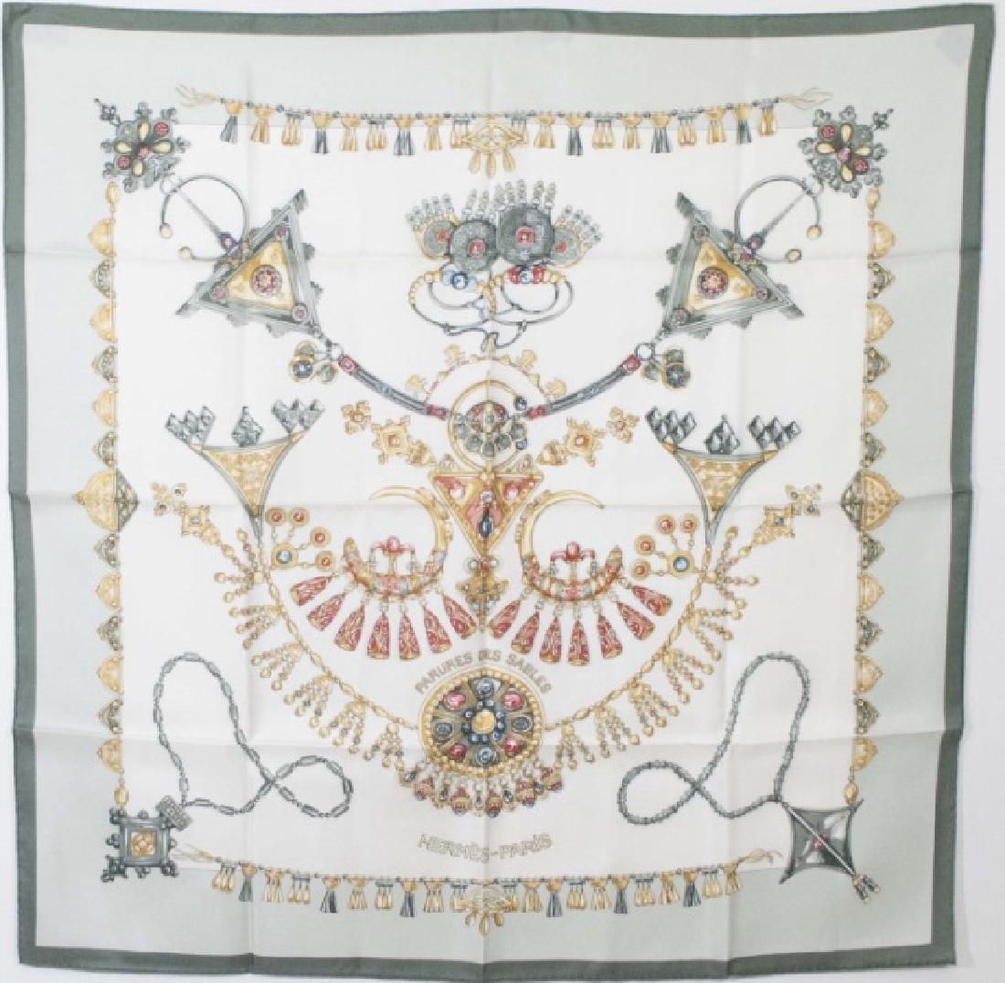 Hermes Paris Jewel Motif Silk Scarf w Original Box