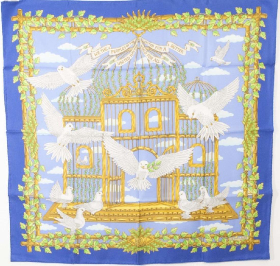 Hermes Paris Silk Scarf - United Nations Design