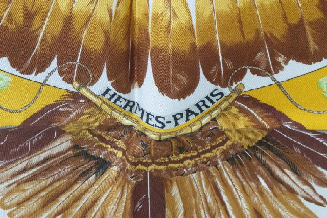 Hermes Paris Silk Scarf - Brazil w Feather Motif - 2