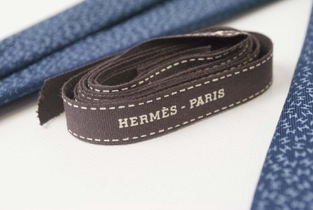 "Classic Hermes Paris Blue ""H"" Tie & Orange Box - 2"