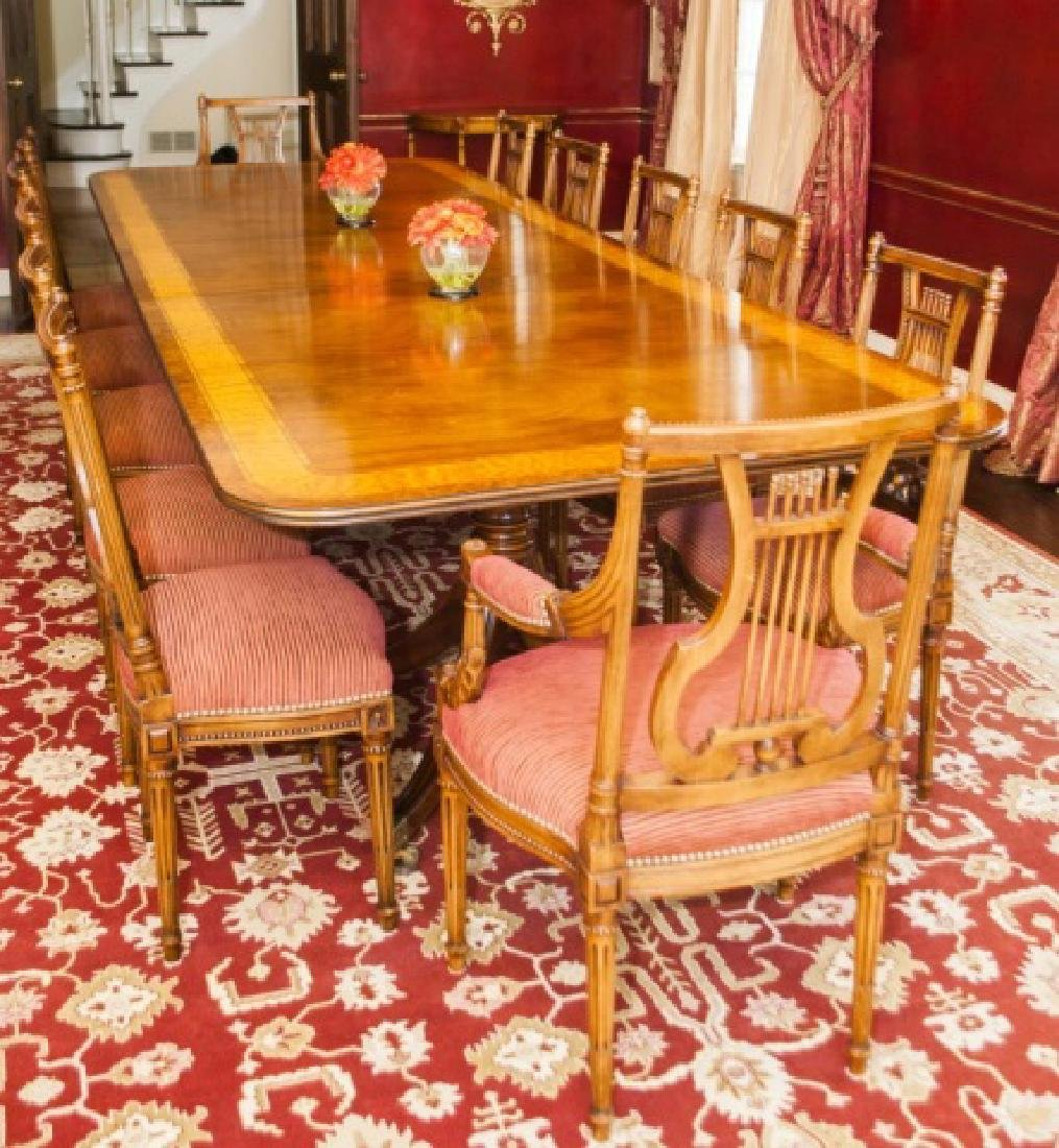 12 Custom Empire Style Lyre Back Dining Chairs